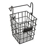 kitchen utensil holder basket - Modular Black Metal Mesh Wire Hanging Kitchen & Dining Utensils Storage Basket / Bathroom Toiletries Holder Basket