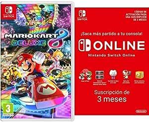 Oferta amazon: Mario Kart 8 Deluxe (Nintendo Switch) + Nintendo Switch Online - 3 Meses (Código de Descarga)