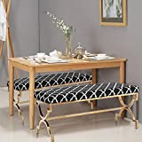 Adeco Modern Upholstered Fabric Cushion Metal Frame