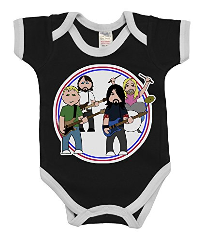 845efe5d5 VIPWees Babygrow The Flu Fighters Music Boys & Girls Baby Bodysuit:  Amazon.co.uk: Clothing