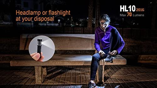 Fenix HL10 70 Lumen LED removable light Headlamp with Three EdisonBright AAA Alkaline batteries … (Black)