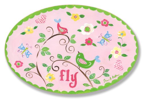 The Kids Room by Stupell Fly Birds on Branches Oval Wall Plaque by The Kids Room by Stupell
