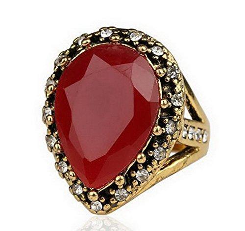 PSRINGS Spartacus Gold Emerald Stone Rhinestone Engaget Rings 10.0