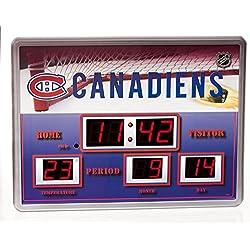 Team Sports America Montreal Canadiens Scoreboard Wall Clock