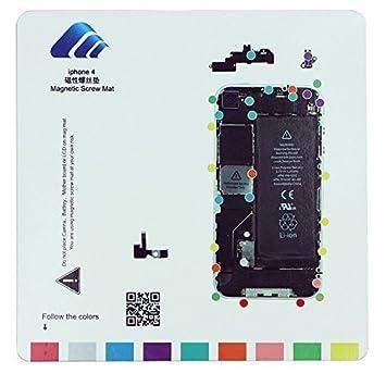 SATKIT Pizarra magnética para organizar Tornillos iPhone 4 ...