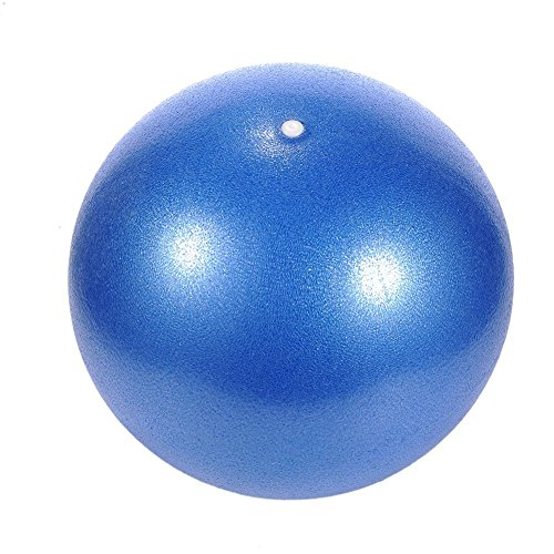 Emmenait Gym lisse Boule de yoga pilates Boule d'exercice Swiss Ball 25Cm-blue