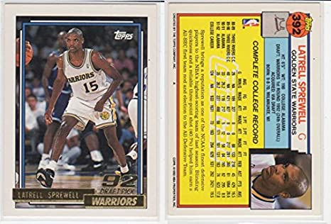 Latrell Sprewell Topps Gold Rookie Basketball Card at Amazon s ... e142b81ab