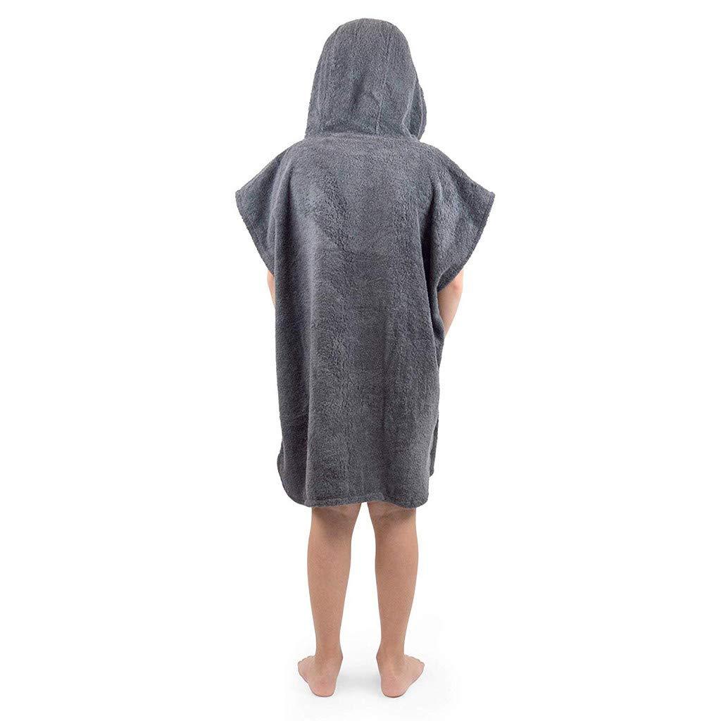 Kinder Flanell-Bademantel Mit Kapuze TTLOVE Bademantel Outfit F/ür Jungen /& M/ädchen,Handtuch Nachthemd Nachtw/äSche Schlafanzug Bademantel