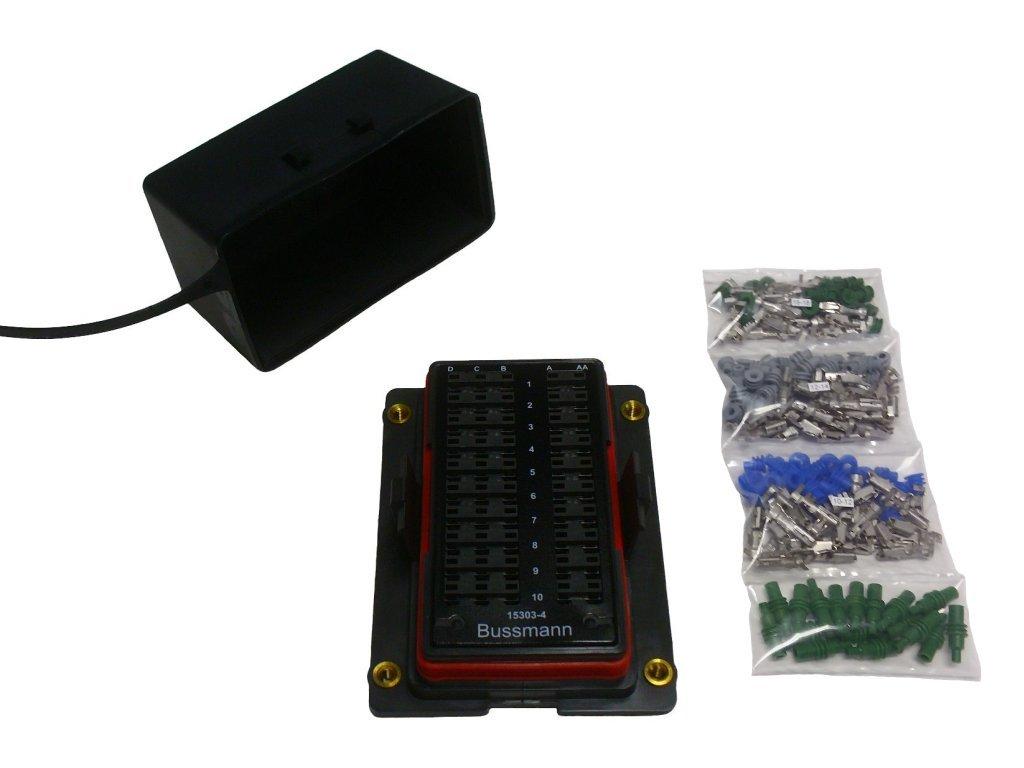 Bussmann 15303 4 0 Rtmr Fuse Relay Panel And Terminal Box Connector Pin Kit 12v Car Electronics