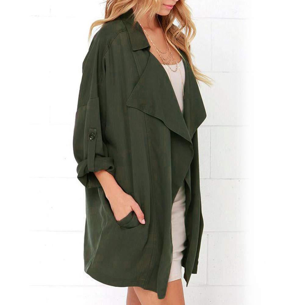 TOOPOOT Women's Cardigan,Ladies Open Front Long Sleeve Waterfall Collar Irregular Trench Coat by TOOPOOT-Coat (Image #2)