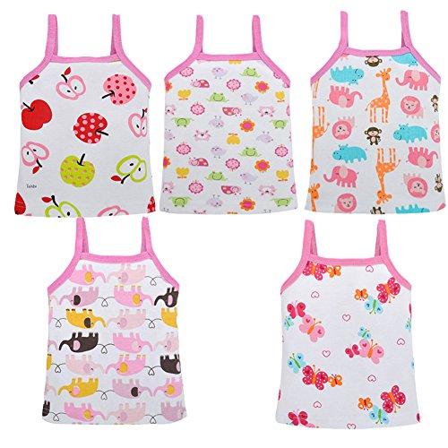 DRAROL Girls5 Piece Flower Camisoles