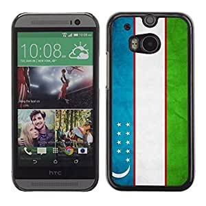 Shell-Star ( National Flag Series-Uzbekistan ) Snap On Hard Protective Case For All New HTC One (M8)