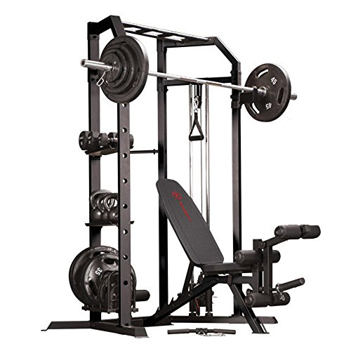Marcy Olympic Strength Cage System and Multipurpose Utility Slant Board Bench by Impex