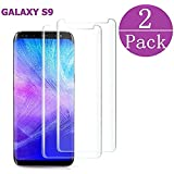 FURgenie Compatible[2 - Pack] Samsung Galaxy Tempered Glass S9 Screen Protector, FURgenie - [9H Hardness][nti-Fingerprint][Ultra-Clear][Bubble Free] Screen Protector Compatible Galaxy S9