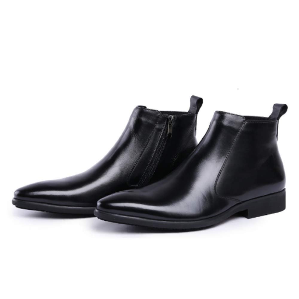 Herrenschuhe Bequeme England Booties Reißverschluss Beiläufige Bequeme Herrenschuhe Tragbare Stylish schwarz 8f3d46