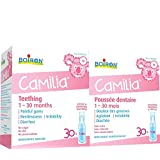 Boiron Camilia Baby Teething Relief Medicine, 60 unit-doses (1 ml each) BONUS PACK. Camilia relieves pain, restlessness, irritability and diarrhea due to teething. Benzocaine-Free and Preservative-Free with Natural Active Ingredient,No Sugar, No Dye
