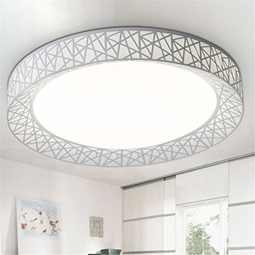 Angeelee Lampe De Plafond Led Ronde Principale Chambre A Coucher