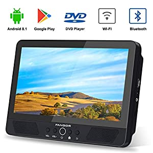 FANGOR-101-Android-TabletPortable-DVD-Player-for-Car-Quad-Core-13GHz-with-16GB-Storage-Support-HDMI-Out-USB-SD-Card-Reader-Built-in-Rechargeable-Battery-Last-Memory-Regions-Free