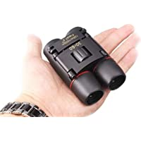 30x60 Compact Small Binoculars Powerful Folding Telescope With Clean Cloth and Carry Case, Lightweight Pocket Binoculars For Adults, kids, Bird Watching, Astronomy (Black) (BLACK)
