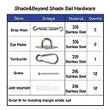 Sun Shades Sail Hardware Kit for Triangle Heavy