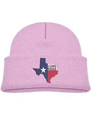 Fashion I Love Texas Texan Flag Printed Newborn Baby Winter Hat Beanie