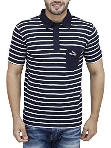 PRO Lapes Men's Striped Half Sleeve Polo - Multi Coloured Striped Polo Shopping Results