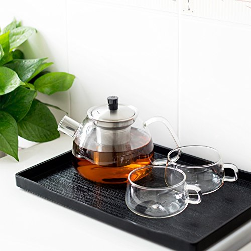 3s glass teapot loose leaf tea maker stovetop safe tea. Black Bedroom Furniture Sets. Home Design Ideas