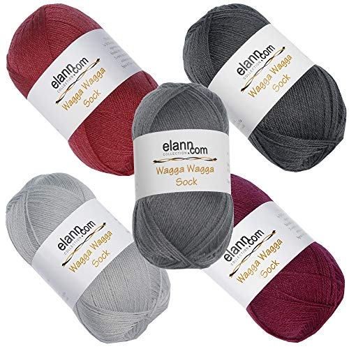 elann Wagga Wagga Sock Yarn | 5 Ball Bag | CP6 115 116 138 139 140