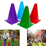 Toy Traffic Cones Assorted Colors Soft Plastic Traffic Cones - 12 Pack By Dazzling Toys