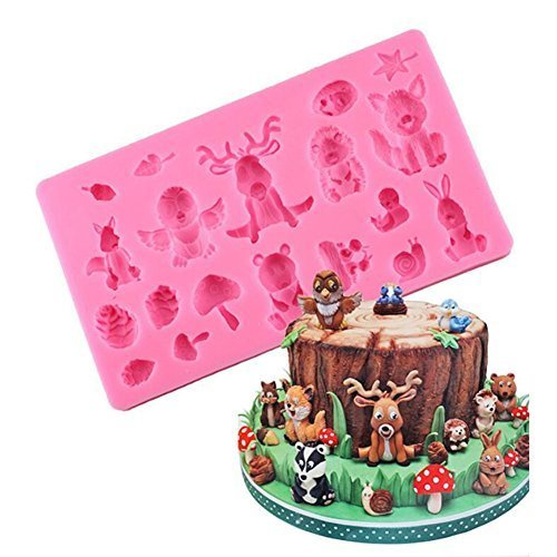 Animals Chocolate Fondant Molds, Baby Birthday Cake Decorating Tools, Cake Silicone Baking Mold, Candy Fimo Clay Moulds, Bakeware Cake Border Decoration Mold, DIY Baking Mould Tools