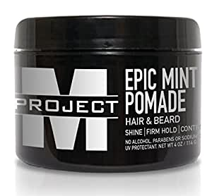 Mint Pomade - Best Water Based Hair and Beard formula for Curly, Wavy, Straight, Thick, or Thin Hair - Gives Medium Hold, Control, and High Shine guaranteed to make your look EPIC