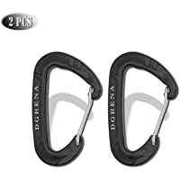 DGRENA Carabiner, Keychain, Spring Buckle, Made of high-Hardness Space Aluminum, Suitable for hammocks, Household Tools, Camping, Hiking, pet Ropes, utilities, etc.