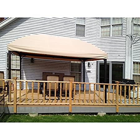 a  Garden Winds Replacement Canopy for Menards Dome Gazebo (Model  L-GZ702PCO-A), Beige – Will not fit any other model, please read description