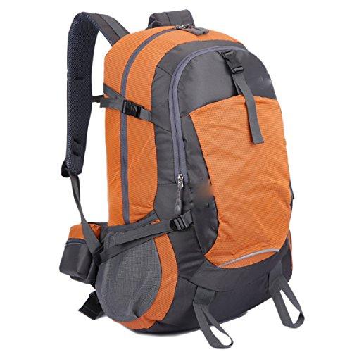 TUOZA Para Hombre Del Alpinismo Al Aire Libre De La Mochila Del Recorrido Impermeable,Blue-OneSize Orange