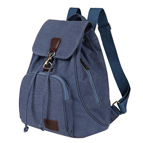 Haifly - Bolso mochila  para mujer beige caqui Azul
