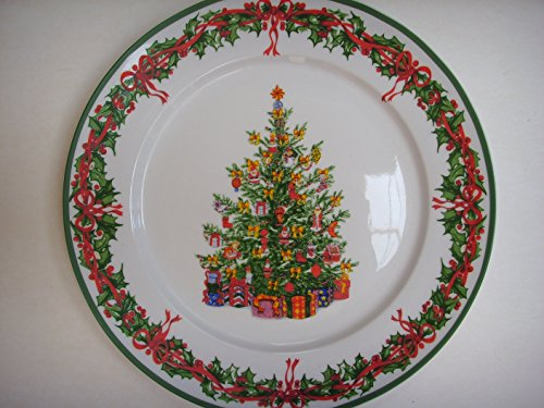 Christopher Radko Celebrations Christmas Tree Dinner Plate 10.5