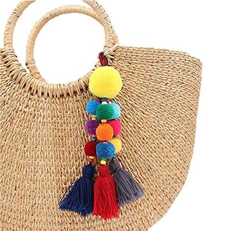Amazon.com: Rarido - Llavero de lana para colgar en la bolsa ...