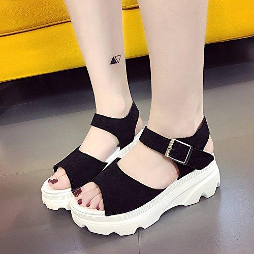 talloni festen shaoge donna spessore per unita sfumato Colore donne inferiori sandali Shoe donne con antiscivolo fondo sandali tinta qPYxwRpR