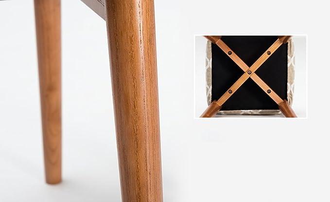 Sedia in legno massello sgabello sgabello quadrato sgabelli