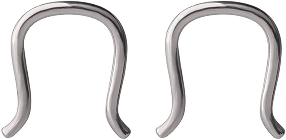 Great my shop 16G Stainless Steel U-Shaped Staple Nose Septum Hanger Retainer Nose Ring