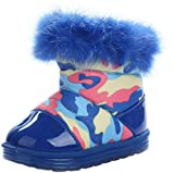 Bettyhome Winter Plush Unisex Baby Soft Sole Infant Toddler Prewalker First Walkers in Tube Snow Boots (Insole Length:133mm EUR 21, blue)