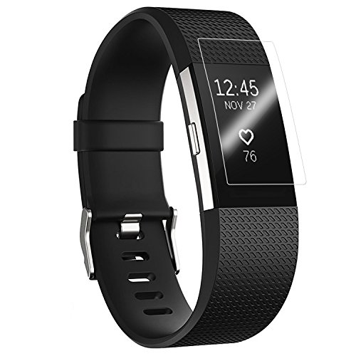 JETech Screen Protector for Fitbit Charge 2, Full Coverage, TPE Ultra HD Film, (Best Screen Protector For Fitbit Surges)