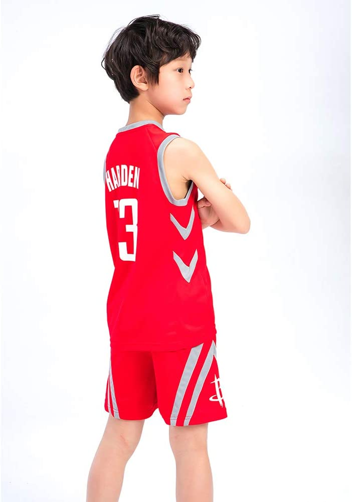 James Harden # 13 Rockets REDLIFE Camiseta de Baloncesto para Little Kids Excelente Regalo