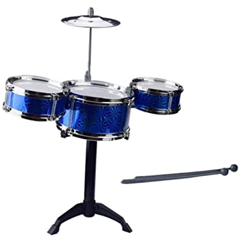 Black Temptation Conjunto de batería para niños Instrumentos Musicales de percusión Juguetes educativos Juguetes para bebés Azul: Amazon.es: Juguetes y ...