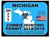 Michigan Zombie Hunting Permit (Bumper Sticker)