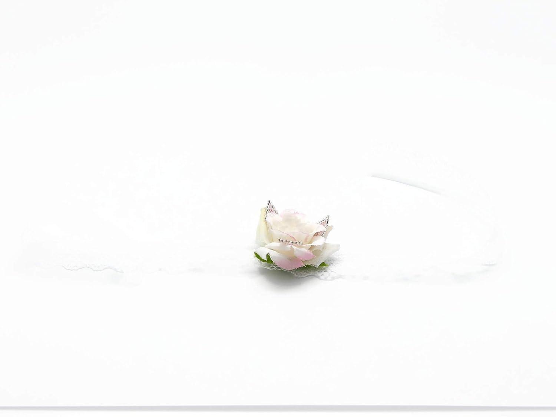 Pulsera de boda perlas de encaje japonés rosa blanco plata Flor para atar a la muñeca regalos personalizados ceremonia de boda invitados dama de honor testigo de la pareja
