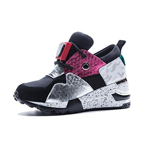 Fitness A1804 Piattaforma color Casual Sneakers Suola all'Aperto WSXY Spessa Donna KJJDE UqBIYS