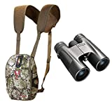 Badlands Mag Bino Case (Approach Camo) and 10x Magnification 10x42 Bushnell Powerview Camo Hunting Binoculars