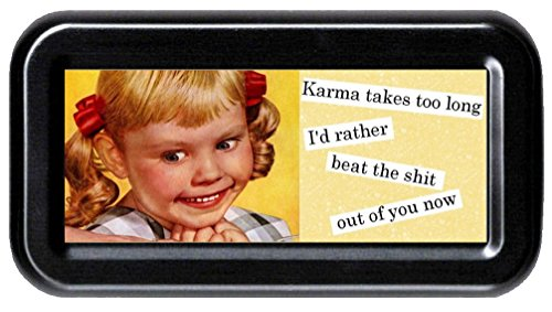 Karma Takes Too Long; I'd Rather Beat the S**t Out of You Now Sarcasm Funny Retro Tampon ()