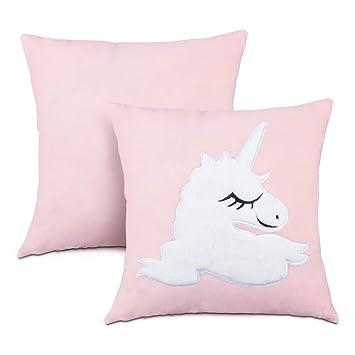 Amazon.com: Funda de almohada de unicornio, funda de cojín ...